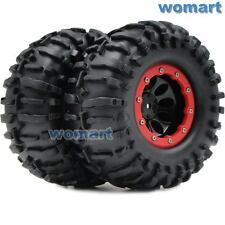 2 Stück 1/10 RC 2.2 Crawler Reifen Tires 125mm & 2.2 Beadlock Felge Wheels Rims