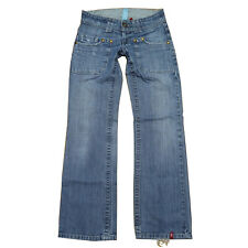 EDC By Esprit Jeans - CRAFT - ca. W26 W27 L30 / Gr 34 / 36 - Hüftjeans Used Look