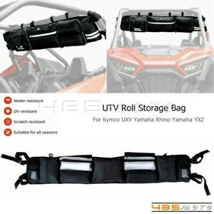 For Yamaha Rhino YXZ Polaris ACE UTV Roll Bag Organizer Cargo Storage Rack Pouch