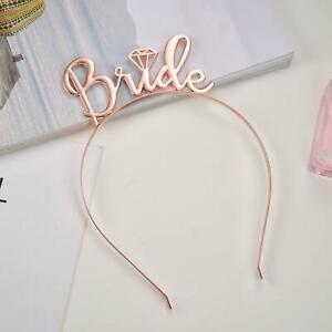Bride To Be Bridesmaid Tiara Crown Headband Hen Party Wedding Accessories Hair