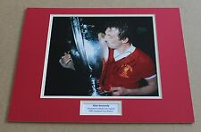 ALAN KENNEDY LIVERPOOL 1981 EURO CUP HAND SIGNED AUTOGRAPH PHOTO MOUNT + COA