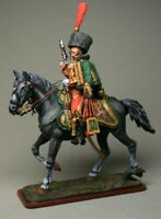 Painted Tin Toy Soldier Officer of the 7th Hussar Regiment 54mm 1/32