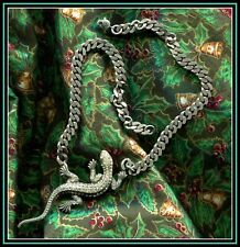 PIERRE BEX GENUINE DIAMAONTE LIZARD NECKLACE - AMAZING AND PERFECT