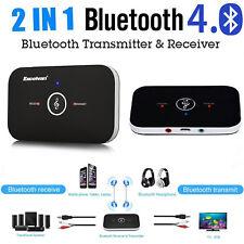 2in1 Wireless HIFI Auto Bluetooth Empfänger Adapter Musik Audio Stereo Sender DE