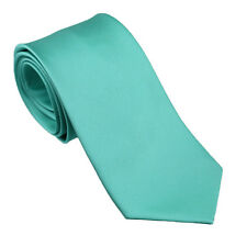 Coachella Ties Aqua Green Turquoise Solid Color Formal Tie Microfiber Necktie
