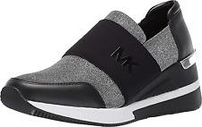 MICHAEL Michael Kors Felix Fashion Sneakers, Black/Silver Size 9