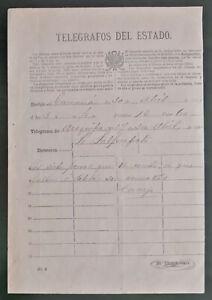 PERU telegram letter Pacific War Camaná Arequipa state telegraph 1881 manuscript