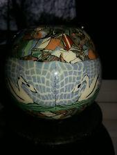 VALLAURIS Jean Gerbino France Mosaic Pottery cygnes vase en très bon état
