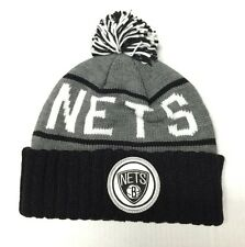 online store c7a59 3929a MITCHELL   NESS Brooklyn Nets Grey   Team Color Cuffed Knit
