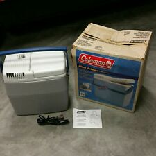 BARELY USED - NICE Coleman 18 Can 16 Qt. Electric Portable 12 Volt Travel Cooler