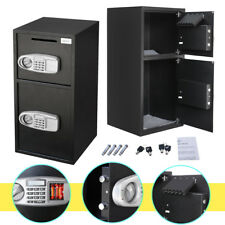 Electronic Lock Gun Jewelry Home Office Steel Double Safe Cash Drop Deposit
