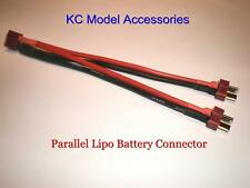 Parallel Lipo Battery Connector with T Plug Deans 14awg 150mm Long