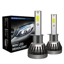 2x H1 180W 30000LM COB LED Headlight Kit Bulbs 6000K White High Low Beam Lamp