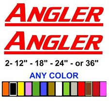 Angler Boats Stickers Decals Fishing Any Color Any Size
