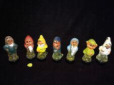 Snow White's 7 Seven Dwarfs USSR Russia Perfume Bottles Full Gnome Dwarf 1930's