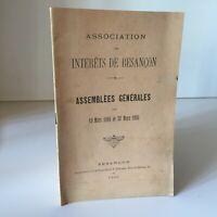 Bouvard Asociación Las Interes De Besancon Asamblea General Mars 1894-1895