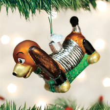 Toy Coil Dog Glass Ornament Old World Christmas New In Box