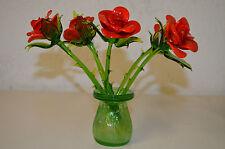 Glasblume Rose, Blume aus Glas stecken oder legen, besondere Dekoration