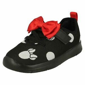 GIRLS CLARKS ATH BOW TODDLER HOOK & LOOP INFANT DISNEY MINNIE MOUSE SHOES SIZE