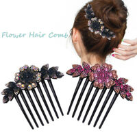 Women Flower Hair Comb Pin Slide Clip Hair Barrettes Bridal Hair Accessories HOT