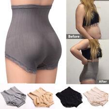 Women High Waist Lace Panties Tummy Control Body Shaper Belly Briefs Underwear
