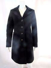 MODA INTERNATIONAL Black Long Wool Coat Sz S