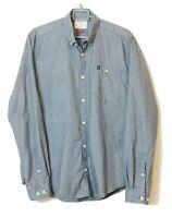 Barbour Beacon Brand Jenson Slim Fit Men's Blue Long Sleeve Shirt Size UK M