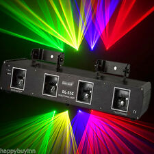 SHINP Pro 460mW 4Lens RGPY Red+Green+Purple+Yellow Laser Light Projector DJ Show