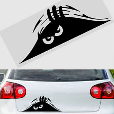 Funny Peeking 3D Big Eyes For JDM Car Bumper Window Vinyl Decal Black Sticker