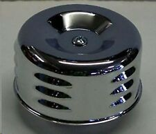 1 Air Breather Chrome Plated Louvered 2 5/8 Inch Neck 2 Barrel Carburetor A6216