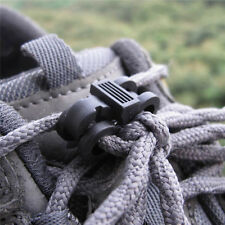 10PCS Elastic Shoelace Shoe Lace Buckle Stopper Rope Clamp Paracord Cord Locks