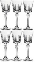 Rcr Cristal Conjunto de 6 Atemporal Sherry Copa Dulce Copas de Vino Licor Gafas
