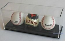 3 Baseball/Billiard Ball Holder Display Case Stand, Acrylic Cover, UV Protection