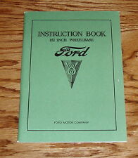 1934 Ford V-8 Owners Operators Manual 34 Instruction Book