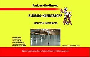 2,5 L Budimex Flüssigkunststoff / Industrie-Betonfarbe / FARBLOS / transparent