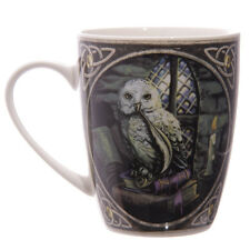 Lisa Parker Owl Pentagram Moon Witch Gothic Celtic Boxed Bone China Cup Mug