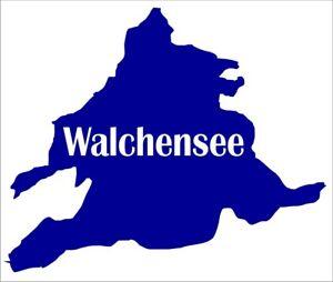 Aufkleber des Walchensee in Bayern Folienschnitt, leicht aufzukleben.