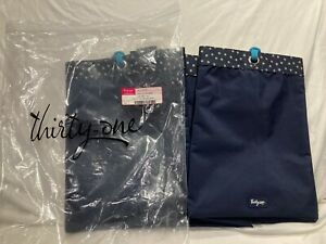 New - Thirty One Navy Dancing Dot Soft Utitly Tote