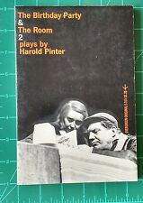 The Birthday Party & The Room Plays by Harold Pinter 1st Edition Grove Press