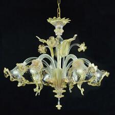 Ca' venier lustre en verre de Murano 5 lumières cristal or