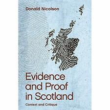 Evidence and Proof in Scotland: Context and Critique - Paperback / softback NEW