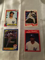 Lot Of 4 Deion Sanders Baseball Cards, NY Yankees,