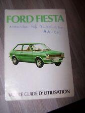 5X - Guide/Notice/Manuel/Carnet d'entretien/Conducteur/Emploi Ford Fiesta 1976