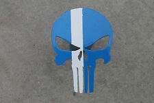 Punisher trailer hitch cover blue with white line