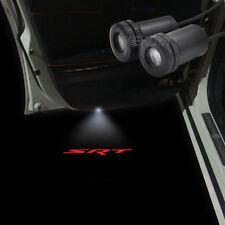 2x Red Logo Car Door LED Laser Projector Shadow Light For Challenger/Charger SRT