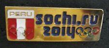 SOCHI 2014 Olympic PERU NOC team delegation pin  rare
