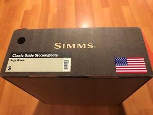 Simms GORETEX Guide Waders Stockingfoot Size Small Khaki Color In Original Box