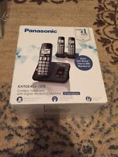 Panasonic KX-TGE433B Cordless Phone with  Answering Machine- 3 Handsets K31