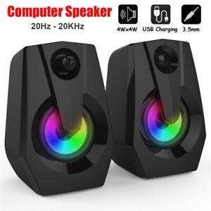 Smalody 9015 2.0 Desktop Computer Speaker 3.5mm USB Wired Subwoofer Laptop PC