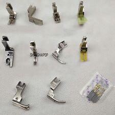 Set of 10pcs Industrial Sewing Machine Foot Zipper Zip High Low Hemming Presser